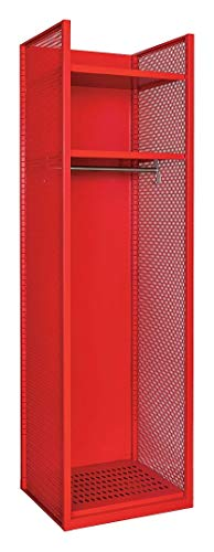 Hallowell Open Front Gear Locker, Assembled, Red - TGNN42(84)-1C-G-RR-HT