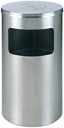 滑らかな表面 ショッピングモールのゴミ箱、スーパーマーケットの銀行のエレベーターステンレスゴミ箱ラウンドシルバーホテルゴミ箱 リサイクル可能なデザイン (Size : 38*38*73CM)
