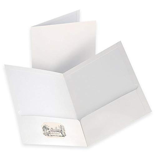 Oxford Laminated Two-Pocket Folders, White, Letter Size, 10 per Pack, ()