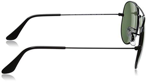 Ray-Ban Lunettes de soleil aviateur classique en Arista cristal or vert polarisé RB3025 002/58 55 Noir (Black)