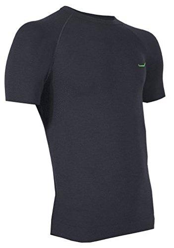 Merino-Shirt Halbarm M-L schwarz