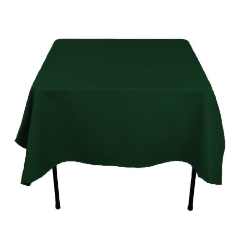 LinenTablecloth 70-Inch Square Polyester Tablecloth Hunter Green