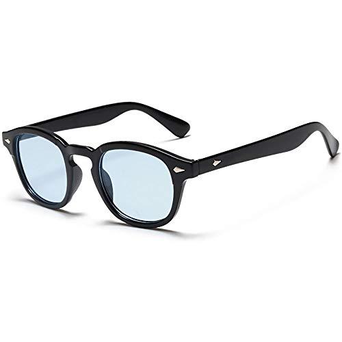 Vintage Johnny Depp Round Sunglasses Tint Lens Nerd Colorful Eyewear See Through Film Tony stark Glasses (Johnny Depp Steampunk)
