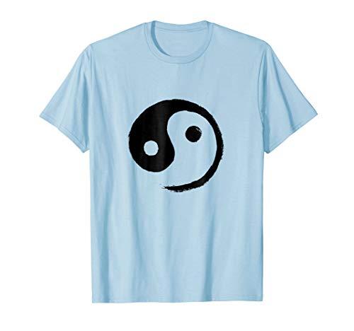 (Yin-Yang Taiji T-Shirt (Black on Pastel))