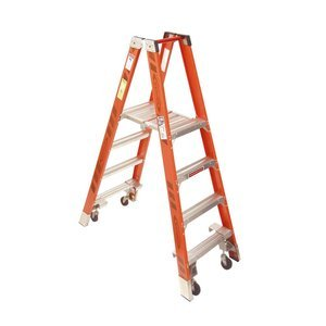 Werner (PT7404-4C) Twin Platform Ladder, Fiberglass - Twin Platform Step Ladder