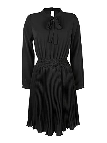 Midi Collection Sintetico Donna Coveri Plissettato Vestito Nero qwzxRZRpPn