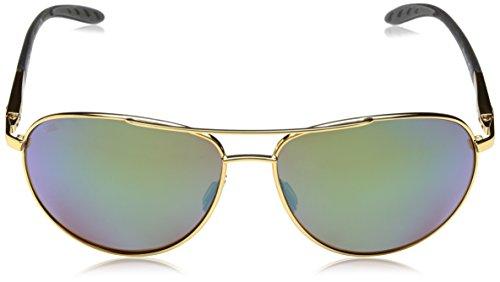 Frame Polarized Del Glass Mar Gold W580 Wingman Mirror Green Costa Sunglasses xYaw66