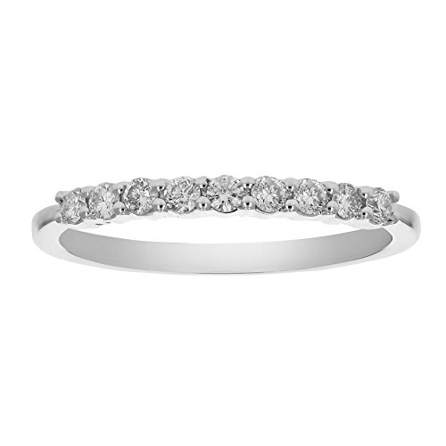 1/4 ctw Petite Diamond Wedding Band in 10K White Gold Size 5 by Vir Jewels