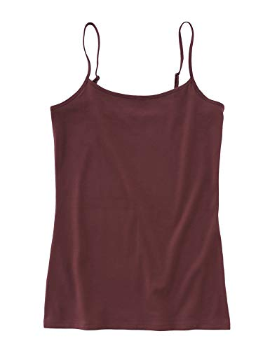 (Ann Taylor LOFT Outlet Women's Cotton Stretch Camisole Tank (Medium, Plum))