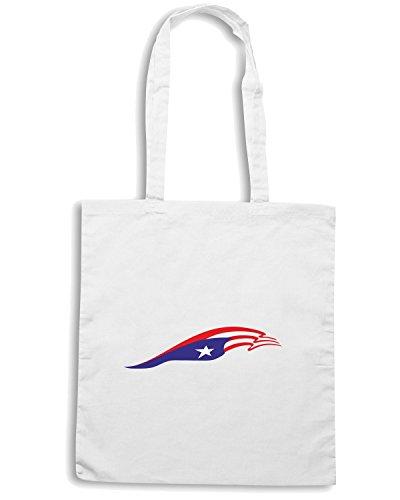 T-Shirtshock - Bolsa para la compra TM0228 Puerto Rico Flag for Truck and car flag Blanco