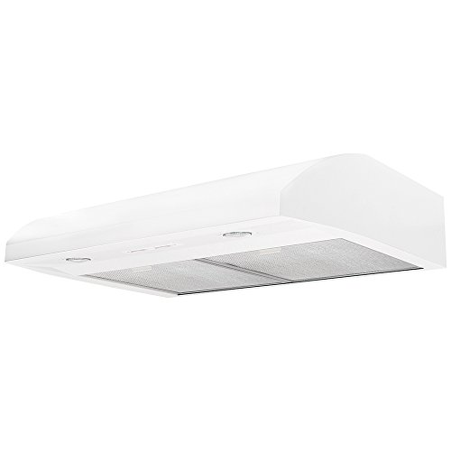 Air King Air King EB30WH 30-Inch Essence 2-Speed Convertible Range Hood with 250-CFM at 5.0-Sones, White Finish White by Air King
