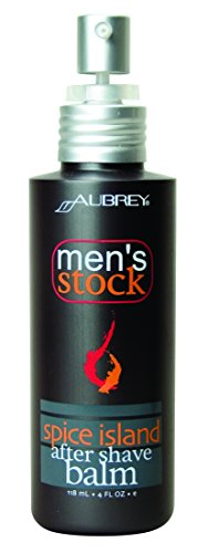 Aubrey Organics Men's Stock After Shave Balm * ALL NATURAL AFTERSHAVE GEL (Mens Stock Spice)