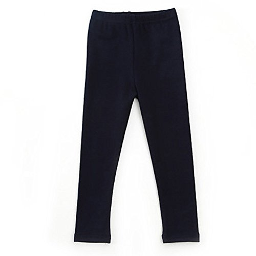 Birdfly Toddler Baby Unisex Basic Leggings Kids Solid Pants Everyday Playwear for Boys Girls (Navy, (Unisex Jersey Knit Pants)