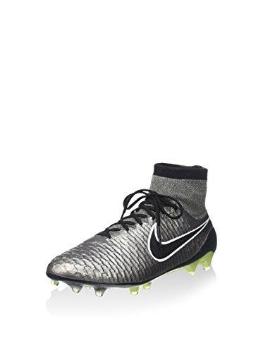 Nike Magista Obra FG, Scarpe Sportive, Uomo Mtlc Pewter/Black-white-black