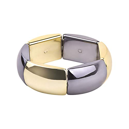 Flamingogogo Classic Resin Cuff Fashion Bracelets Bangles for Women Stretch Colourful Acrylic Big Bracelets Girls Simple Charm Gifts Jewelry,Gray