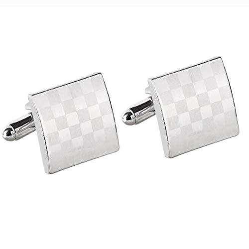 Mens Cufflinks Rectangle Shaped Laser Engraved Elegant Design,Men