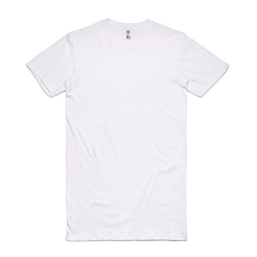 Cotton Extra Long T-shirt - Have It Tall Men's Extra Long T Shirt White X-Large Tall