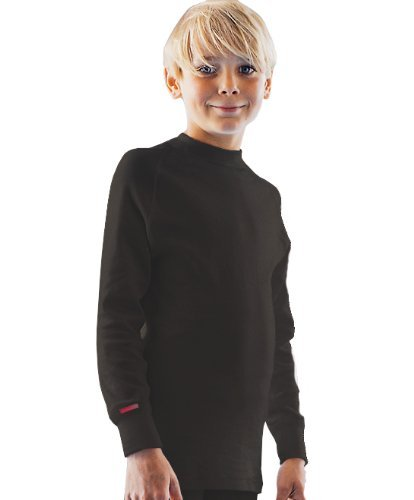 Blackspade Thermal Kids Longsleeve Langarm Thermo Shirt schwarz