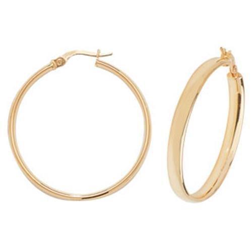 Boucles d'oreilles créoles Femme-Or 9carats
