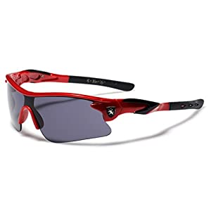 Half Frame Kids Teen Age 8-16 Performance Baseball Cycling Running Sport Sunglasses - Red