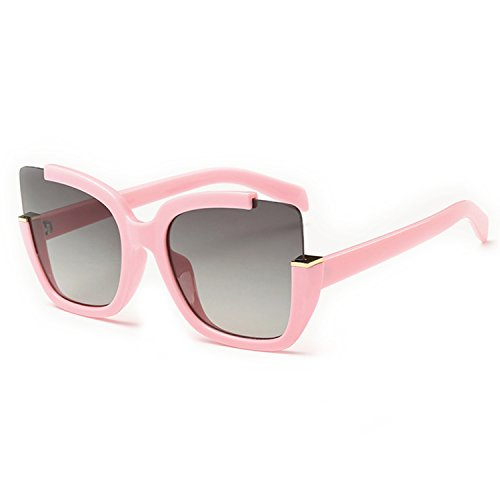 Supertrip Womens Fashion Oversized Round Square Plastic Vintage Cut-Out Flash Mirror Lens Cat Eye Sunglasses Color - Pink Womens Sunglasses Costa