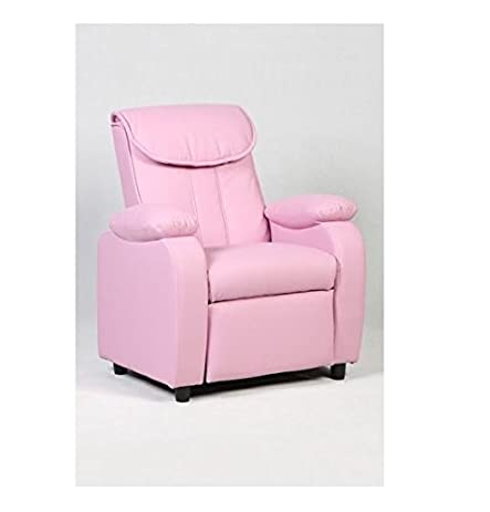 Amazon.com: MD Group Kid Sofa Armrest Recliner Chair Pink Soft Suede ...