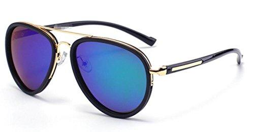 Gafas De Moda De De Darkgray Blue Gafas De Sol Sol Polarizadas Señora rwUrq