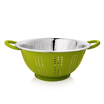 stainless-steel-colander-with-outside-color-green