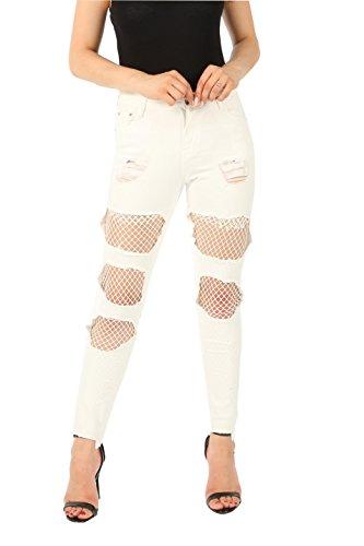 Missi London - Jeans - Femme Blanc