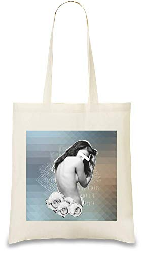 Custom Les Sauvages Stylish Eco Bag Re Be 100 Natural Hearts Ne Peuvent Wild Every Cotton Printed usable Brisés Soft Broken Unique Color Tote For Coeurs friendly amp; Être Can't Handbag Naturel Pas Day pprw7q5