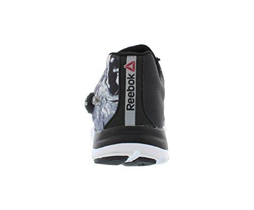 Reebok Z Pompe Fusion Splash Courant Hommes Chaussures Taille Noir / Blanc / Argent