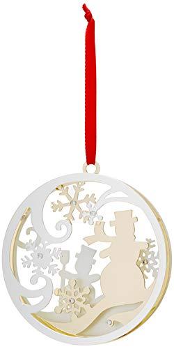 Lenox Stamped Snowman Ornament]()