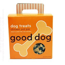 Sojo's 60108 Good Dog Treats – Chicken Pot Pie 8 Oz. (Pack of 6 Boxes), My Pet Supplies