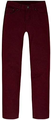 Brushed Denim Jeans (Levi's Big Boys' Slim Fit Ultra Brushed Jeans, Zinfandel, 16)