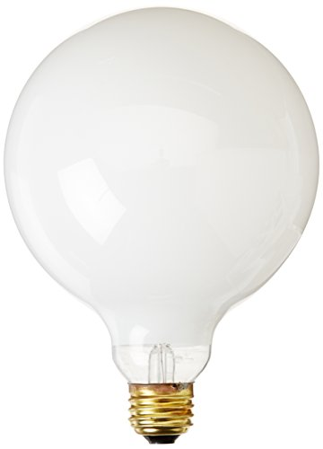 Bulbrite 40G40WH 40W G40 Globe 125V Medium Base Light Bulb, White