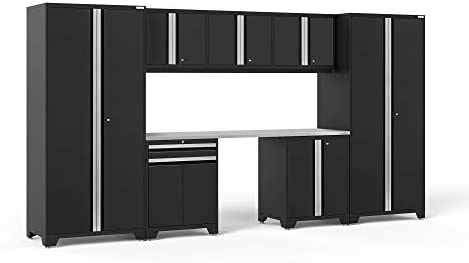 NewAge Products Pro Series Black 8 Piece Set, Garage Cabinets, 64118