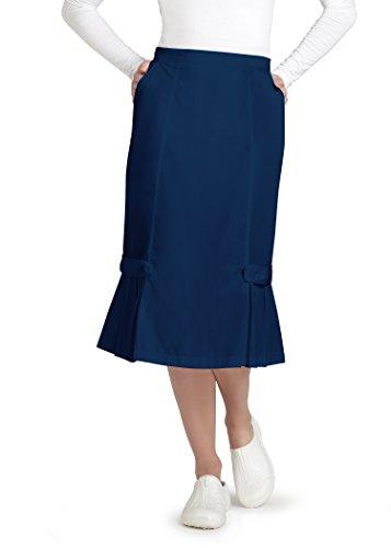 Adar Universal Tabbed Pleat Panel Skirt - 711 - Navy