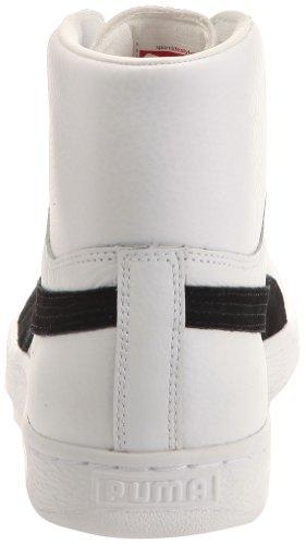 Puma BASKET CLASSIC MID Weiss Schwarz Leder Unisex Sneakers Schuhe Neu