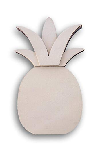 Daisy Crafts Pineapple Shaped Miniature Wood Cutout - 3.5 Inches x 6.25 Inches [並行輸入品]   B07T9S41Y4