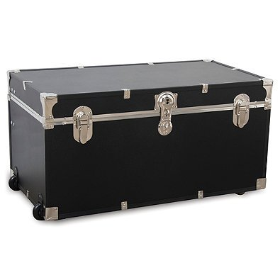 Merveilleux Mercury Luggage 31 Inch Oversized Camp U0026 College Storage Trunk/Wheeled  Storage In Black