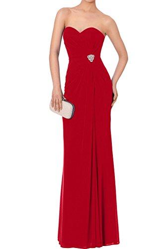 Rot Lang Etui Elegant Partykleider 2017 Abendkleider Chiffon Neu Ivydressing Promkleider Herzform qCRwvxOxP
