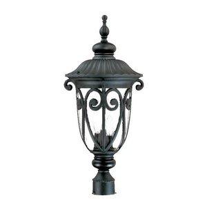 Acclaim 2127BK Naples Collection 3-Light Post Mount Outdoor Light Fixture, Matte Black ()