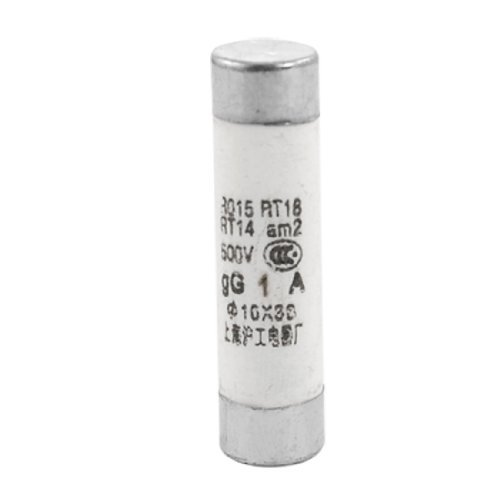 DealMux Electrical 500V 1A 10 x 38mm Ceramic Tube Cylindrical Fuse Links 20pcs