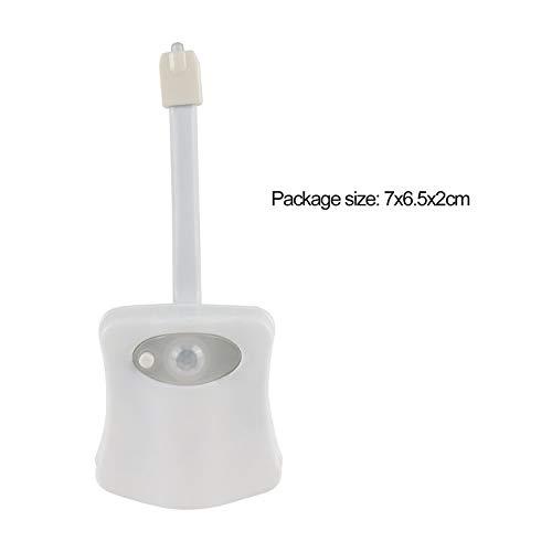 bianco Intelligente LED Sensore di movimento umano Bagno di notte illuminato toilette con luce colorata Sedile WC Sensore automatico luce del sedile