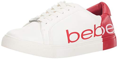 Bebe - Zapatillas para Mujer Charley, Blanco/Rojo, 8.5 M US