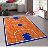 - Kids / Baby Room / Daycare / Classroom / Playroom Area Rug. Basketball Court. Sports. Fun. Non-Slip Gel Back (3 Feet x 5 Feet)