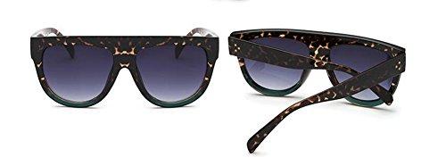 Sous soleil rond le Vert vintage du de retro Lennon cercle métallique inspirées Léopard style polarisées lunettes en B6Zq5Z