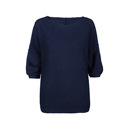 Pull Automne Bleu Manche Tricot Chandail Chauve Femmes Longue Shinekoo Souris Jumper 5EqRU51
