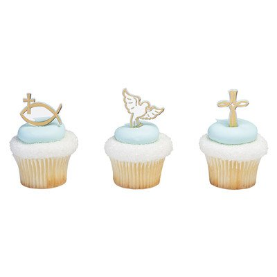 Religious Spiritual Icons Cupcake Picks - 24 pc