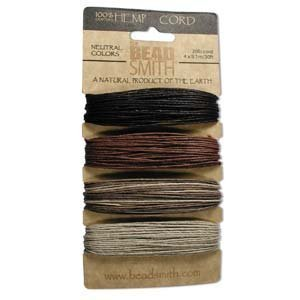 Hemp Twine Bead Cord 1.0mm - Neutral Brown Colors ()